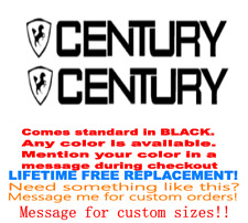 "PAIR OF 4.5""X28"" CENTURY BOAT HULL DECALS. MARINE GRADE. YOUR COLOR CHOICE.22"