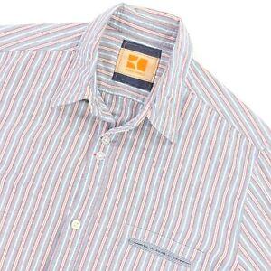 Hugo Boss Orange Men's 100% Cotton Button Shirt Multicolor Stripe • Medium