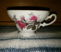 UCAGCO China Japan Footed Tea Cup with Roses & Gold Trim