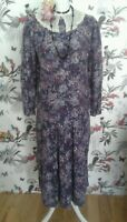*Vintage Laura Ashley* Lace Collar Floral Dress Size 10 Edwardian Flapper 1920s