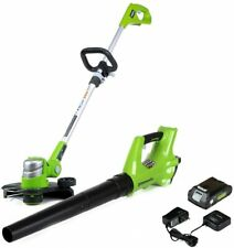 Greenworks 24V Cordless String Trimmer and Blower Combo, 2Ah Battery & Charger