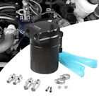 Black Aluminum Baffled Oil Catch Can Tank Reservoir Breather With Fittings J6I4  for sale