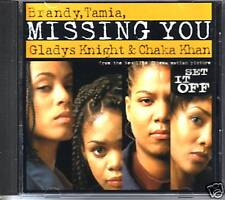 BRANDY Tamia Missing ACCAPELA& ACOUSTIC PROMO CD Single Chaka Khan Gladys Knight