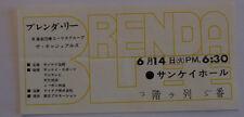 BRENDA LEE           Ticket  concert    TOKYO 1966