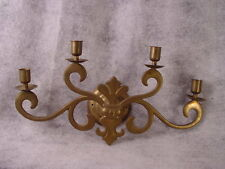 H U G E  Antique Brass Wall Sconce - Brass Candlestick ~ BRASS SCONCE