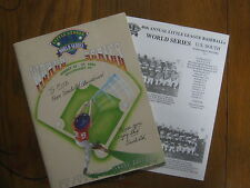 ED  CLAUDIUS (Died-2011)(Uncle Ed)Signed 1994 Little League World Series Program