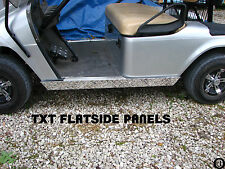 Ezgo Medalist / TxT Golf Cart Polished Aluminum Diamond Plate Flat Rocker Panels