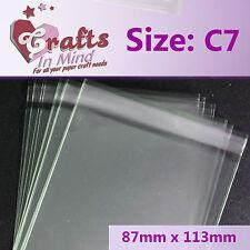 250-C7 / A7 Violoncello Borse Per Cartoline d'auguri   87 mm x 113mm   CELLOPHANE