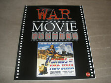 VINTAGE HOLLYWOOD WAR MOVIES POSTER BOOK WITH OVER 300 FULL COLOR PRINTS RARE
