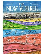 New Yorker COVER 01/17/1970 - New York Underground - ADDAMS