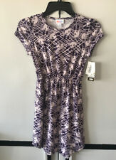 Girls Disney Lularoe Mae Dress Mickey Mouse Purple Size 12 New