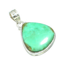 MAGNESITE TURQUOISE NATURAL GEMSTONE 925 SOLID STERLING SILVER JEWELERY PENDANT