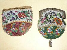 PURSES ANCIENNES Pochettes EN PERLES XIXe NAPOLEON Mode Victorian Fashion Sac
