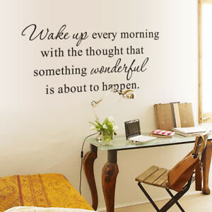 Kitchen Bedroom Quote Wake Up Wall Stickers Art Dining Room Removable Decals