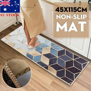AU Non-Slip Waterproof Mat Area Rug Carpet Kitchen Door Floor Bath Home Decor