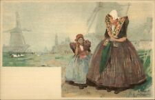 Holland Native Dutch People H. Cassiers c1900 Postcard AXEL