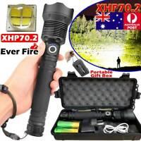 SUPER BRIGHT 999000LM Flashlight XML XHP70 XHP50 LED Torch Rechargeable Headlamp