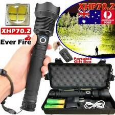 SUPER BRIGHT 999000LM Flashlight XHP70 XHP50 LED Torch Rechargeable Headlamp BOX