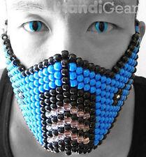 Subzero From Mortal Kombat Kandi Mask, Rave Mask, Rave Gear For Music Festivals