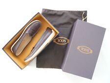 TOD'S en Cuir Marron À Enfiler Penny Mocassins Chaussures en Cuir Doublé de sac à poussière Box UK 4.5