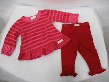NAARTJIE KIDS Girls Red Pink Long Sleeve 2 Piece Set Size 3-6 Months