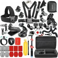 GoPro Accessories Action Set Hero 8 Kit Camera Black HD Bundle Chest Sport Strap