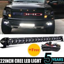 6D 20inch Super Slim Single Row LED Work Light Bar Combo Beam Driving Wiring