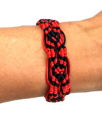 ICON BRAND Chunky Red & Black Cord Wrist Bands Bracelet One Size