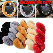 1x New Warm Plush Steering Wheel Cover Winter Furry Fluffy Soft Plush Car Wheel