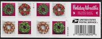 US Scott #5427b, Plate #B11111 Booklet Pane 2019 Wreaths VF MNH
