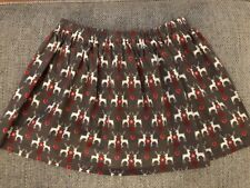 Lolapops Boutique Handmade Reindeer Cotton Christmas Skirt Age 6 Years