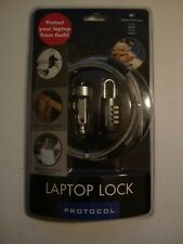 Protocol Laptop Security Lock ~ Anti-Theft Combination Lock ~ Nib