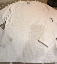 NEXT MENS Slim Fit JUMPER WHITE! Size Small! 100% Cotton! All Seasons