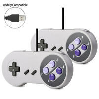 2 Packs USB Game Controller for Super Nintendo SNES Retro Classic Gamepad Joypad