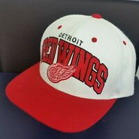 Mitchell & Ness NHL Vintage Hockey Snap Back Cap Hat Detroit Red Wings White Red