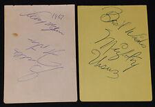 1960 - WRESTLER /WRESTLING - AUTOGRAPHS (6) - CORTEZ, CARPENTIER, MOQUIN, etc