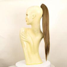 Extension coda di cavallo donna castano chiaro dorato lunga liscia 70 cm