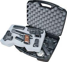 Gun Guard 4 Pistol Handgun Scoped Hard Case Storage Revolver Snap-Latch Black
