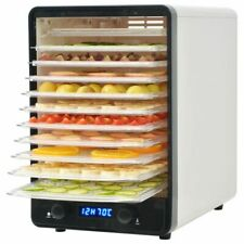 vidaXL Voedseldroger met 10 Lades 550 W Wit Droger Dehydrator Voedingsdroger