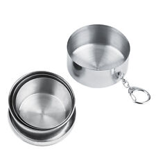 8oz 240ml Stainless Steel Portable Folding Telescopic Collapsible Outdoor Cup TG