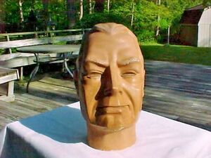 Vintage Life Size Male Mannequin Head Hat Display?