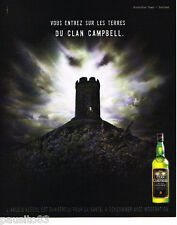 PUBLICITE ADVERTISING 085  2004  LE whisky CLAN CAMPBELL