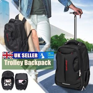 Wheeled Backpack Cabin Laptop Computer Suitcase Trolley Hand Luggage Case Bag UK