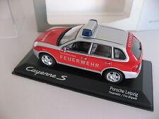 """Minichamps 2008 Porsche Cayenne S """"Feuerwehr Porsche Werk Leipzig"""" Fire Brigade"""