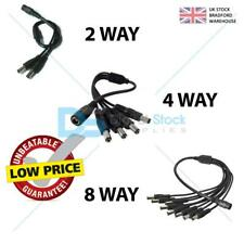 CCTV Camera Power Supply Splitter 12V DC 2.1mm Female to 2, 4 or 8 Male Y cable