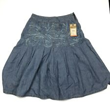 Womens Short  Denim Skirt Sz 6 Has Defect Zipper Missing