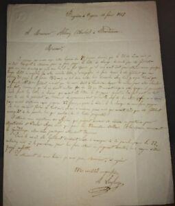 MONTÉVIDÉO.BUENOS-.AYRES COURRIER ADRESSÉ À L'AGENT  POUR L'ÉMIGRATION. 1857.