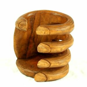 Wine Bottle Holder Genuinely Hand Carved And Hand Design Balinese