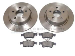 FORD C-MAX MK2 2011-2017 REAR 2 BRAKE DISCS AND PADS SET NEW (280MM)