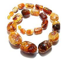 Unique Massive Genuine Baltic Amber Adult Necklace 54 cm Luxury